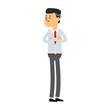 Young businessman cartoon vector illustration graphic design