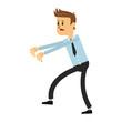 Tired businessman cartoon vector illustration graphic design