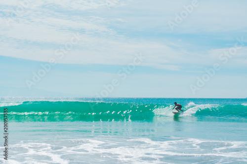 Kids surfing Canvas Print