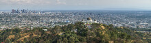 Los Angeles Panorama Aus Sicht Der Hollywood Hills, Griffith Observatory