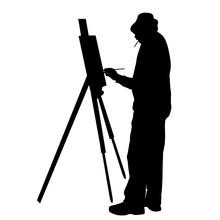 Artist At Work Silhouette