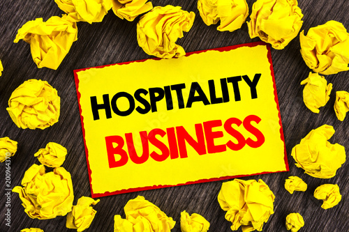 Fotografía  Handwriting Announcement text  Hospitality Business