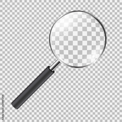 Realistic magnifying glass Wallpaper Mural