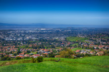 Houses Of Silicon Valley From Mission Peak, California