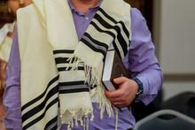 Hands Holding A Jewish Prayer ...