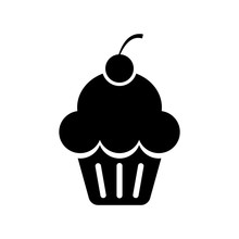 Cup Cake Icon Icon Isolated Ve...