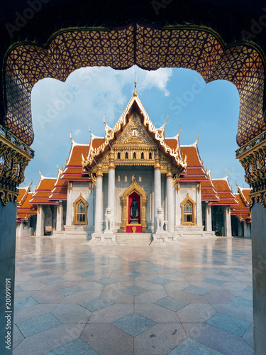Deurstickers Bedehuis Wat Benchamabophit Dusitvanaram or