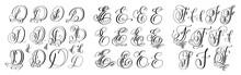 Calligraphy Letters Set D, E A...
