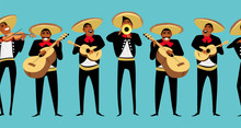 Mexican Musicians. Seamless Pa...