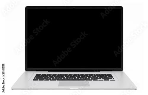 Staande foto Brug Modern silver laptop 3D rendering