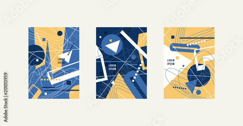 Stock vector set of abstract brochure template Tapéta, Fotótapéta