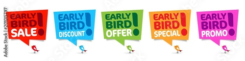 Photo  Early bird promo, early bird special, early bird sale, early bird offer, early b