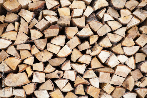 In de dag Brandhout textuur chopped firewoods in a pile