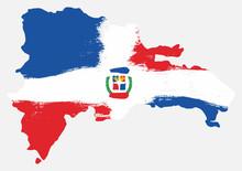 Dominican Republic Flag & Map ...