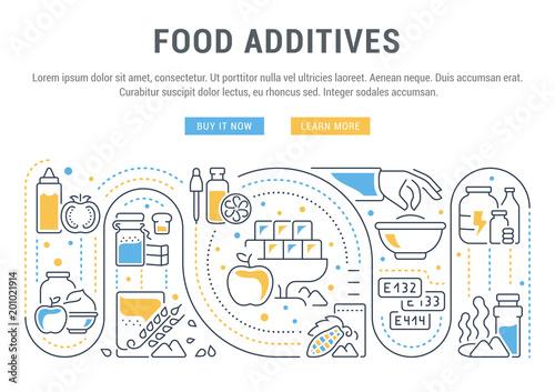 Fotografie, Obraz  Website Banner and Landing Page of Food Additives.