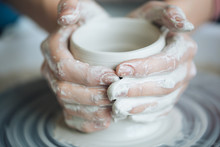 Handcrafted On A Potter's Whee...
