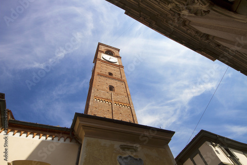 Abbiategrasso, Italy / Lombardy - 04/10/2018: view of Binaghi street New Saint M Canvas Print