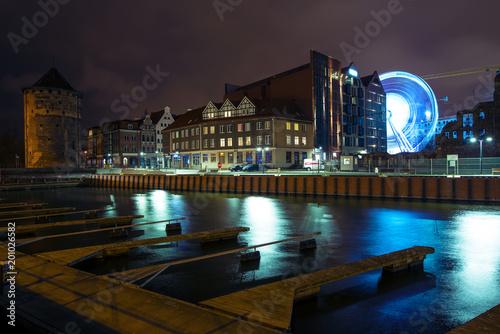 Nightcity, Gdansk Billede på lærred