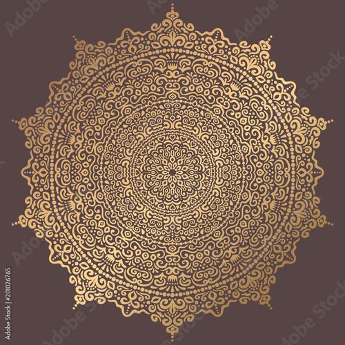 Mandala Vector Design Element Canvas Print