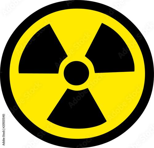 Radiation Warning Symbol Fototapeta