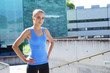 Sporty woman training outdoor. Sport and health concept.