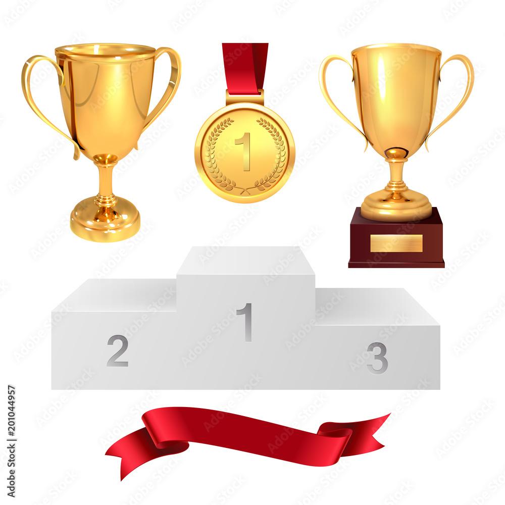 Zestaw Trofeów Zwycięzcy Złote Puchary Złoty Medal