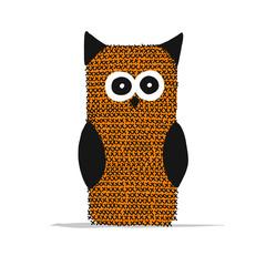 Panel Szklany Boho Knitting owl for your design