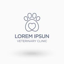 Veterinary Clinic Logo. Isolat...