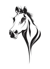 Abstract horses head