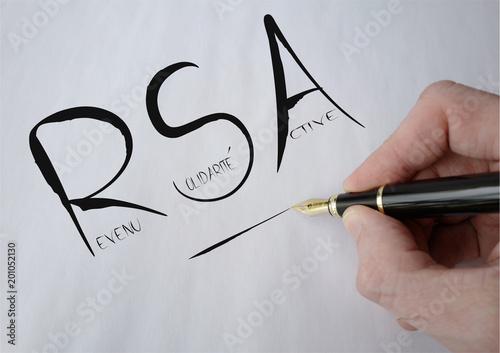 RSA manuscrit noir Canvas Print