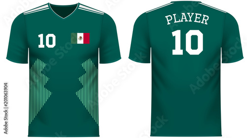 Obraz na plátně Mexico Fan sports tee shirt in generic country colors