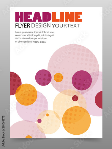 colorful business flyer or cover design for art template design