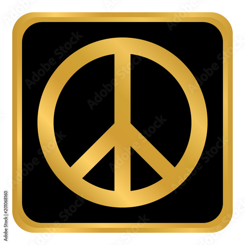 Foto  Peace symbol buttom.