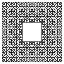 Square Frame Of The Arabic Pat...