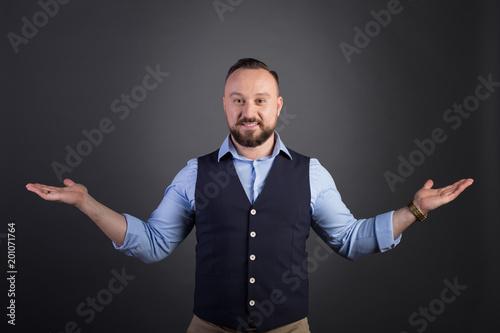 Photo  Portrait of businessman in a suit