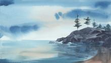 Watercolore Landscape Of The S...