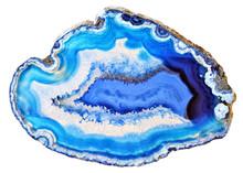 Amazing Blue Agate Crystal Cro...
