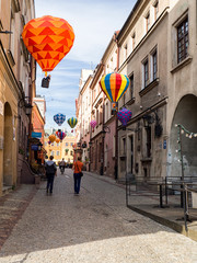 Mountebanks Carnaval in the old town Lublin