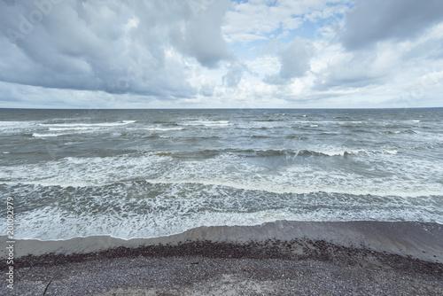 Foto  Dramatische stürmische Landschaft