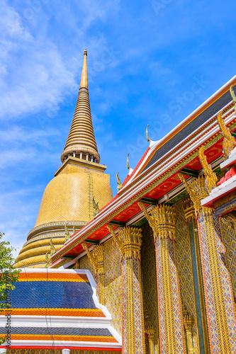 Spoed Foto op Canvas Bedehuis Wat Ratchabophit buddist temple in Bangkok, Thailand