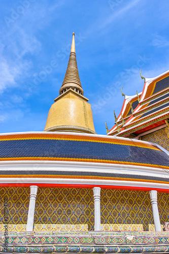 Foto op Plexiglas Bedehuis Wat Ratchabophit buddist temple in Bangkok, Thailand