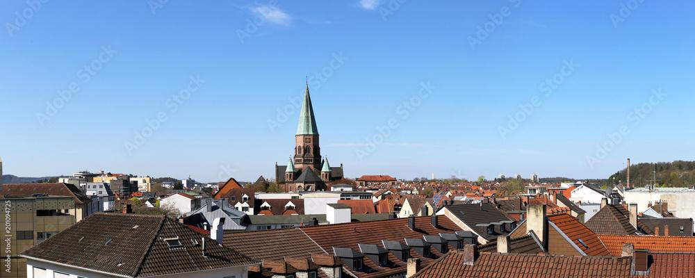 Fototapeta Stadtansicht von Kaiserslautern