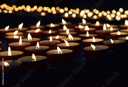 Obraz na plátne burning memorial candles