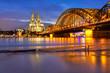 Köln bei Hochwasser