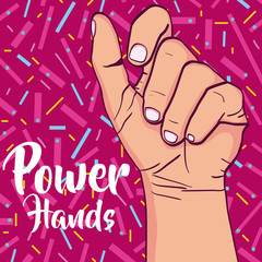 Girl power pop art