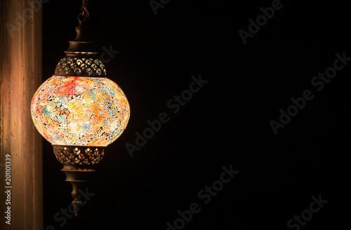 Ramadan lamp. Arabian lantern