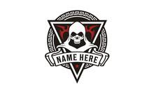 Killer Skull Badge For Game Or Community Logo Design Inspiration