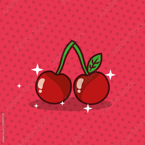 Foto op Plexiglas Restaurant cherry nutrition diet fresh image vector illustration