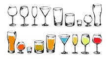 Drawing Alcohol Drinks Collect...