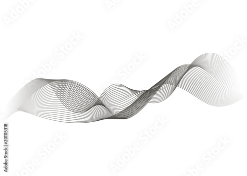 Fototapety, obrazy: Abstract wave element for design